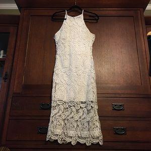 Charlotte Russe Crochet maxi dress.